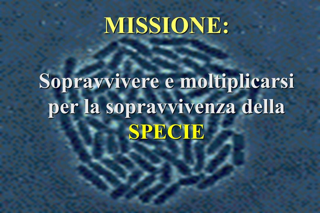 MISSIONE: Sopravvivere e moltiplicarsi per la sopravvivenza della SPECIE