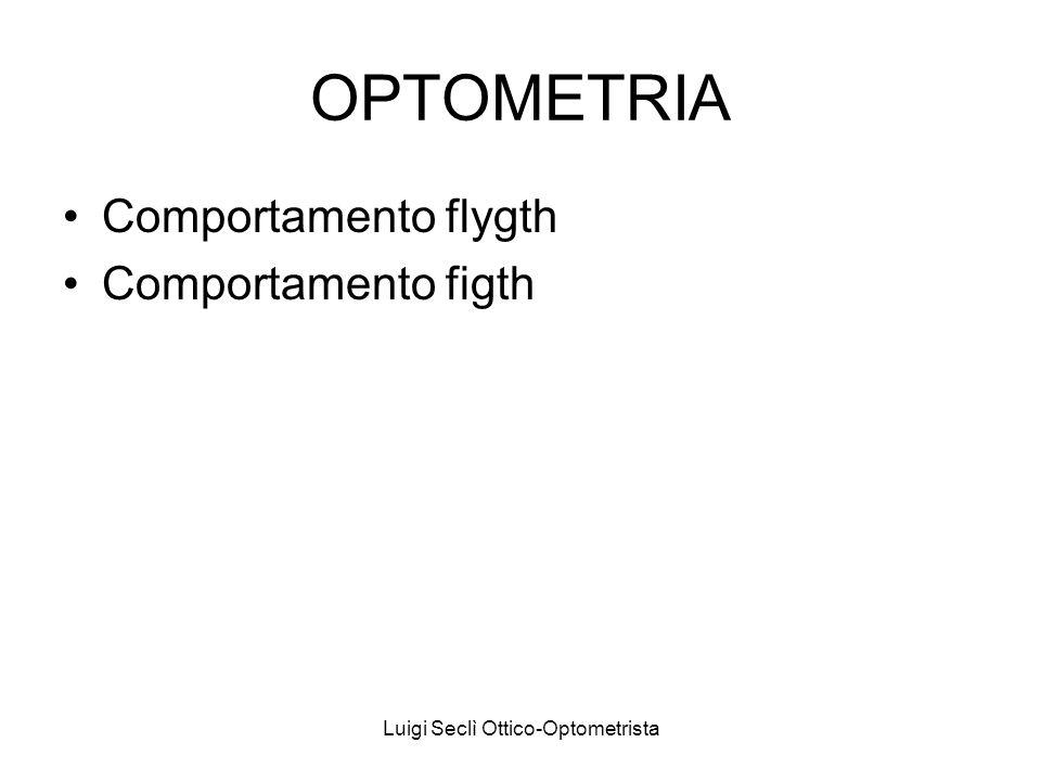 Luigi Seclì Ottico-Optometrista OPTOMETRIA Comportamento flygth Comportamento figth