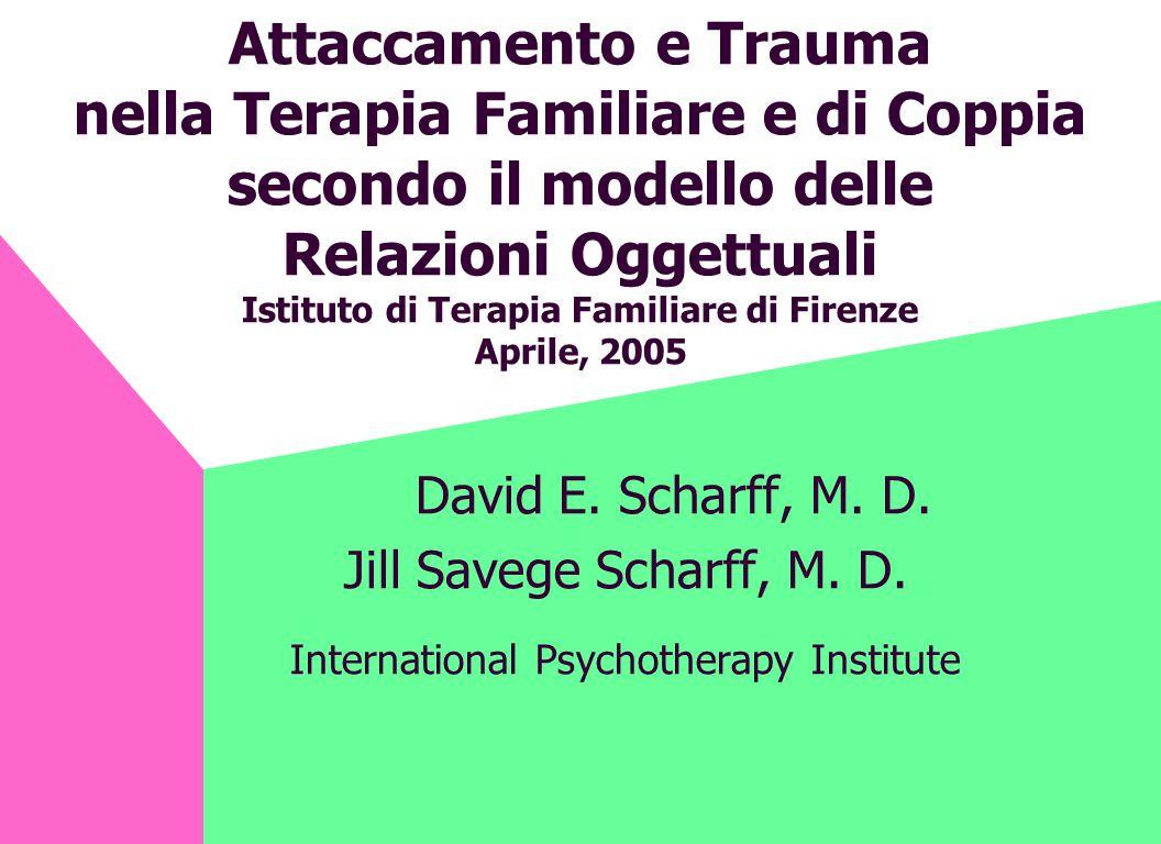 Attaccamento e Trauma nella Terapia Familiare e di Coppia secondo il modello delle Relazioni Oggettuali Istituto di Terapia Familiare di Firenze April