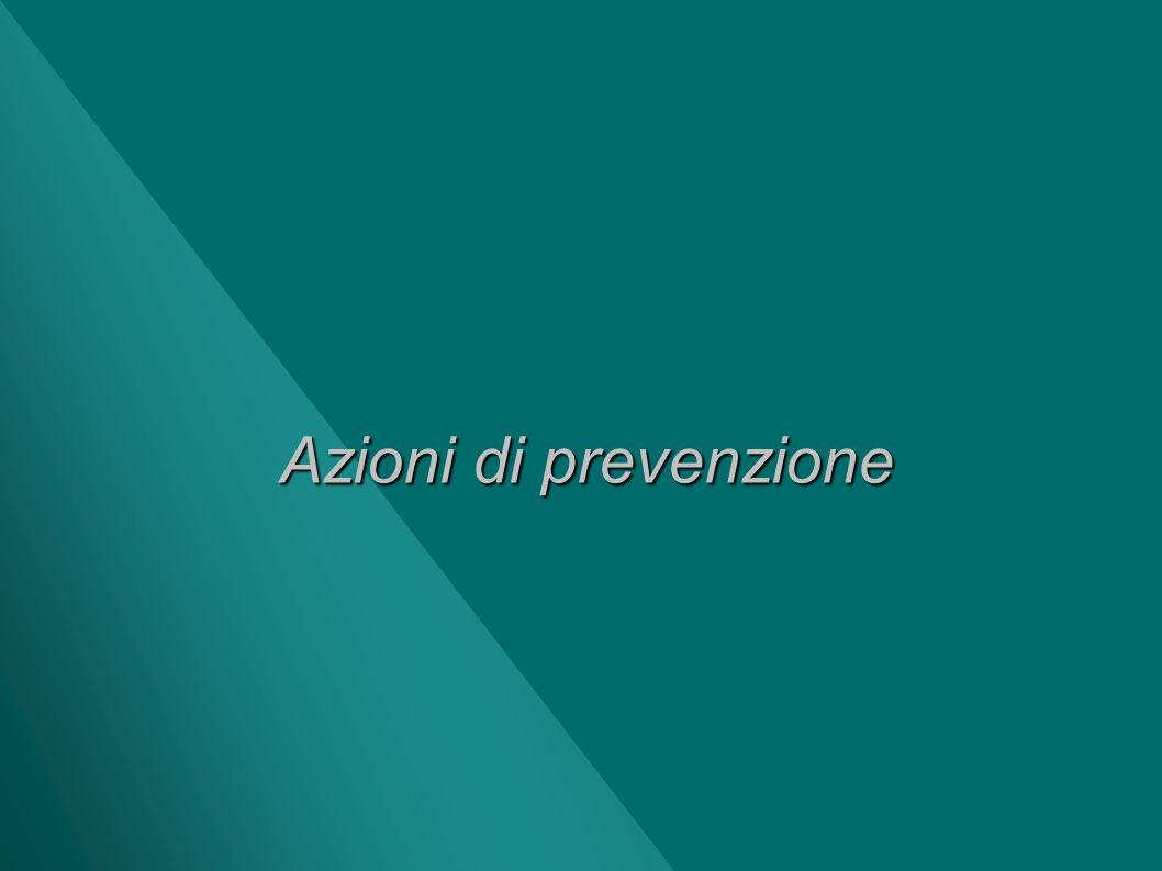 Azioni di prevenzione
