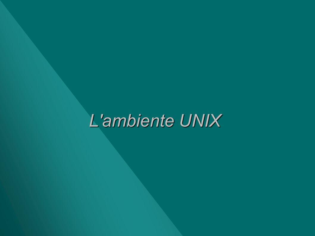 L'ambiente UNIX