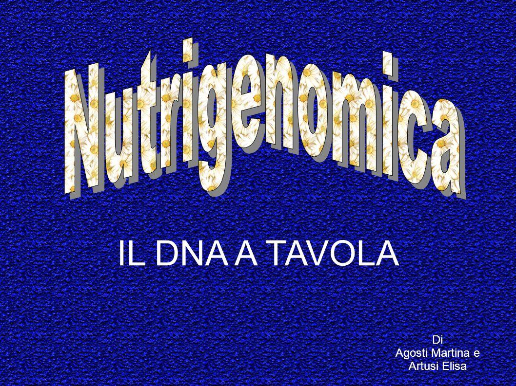 Di Agosti Martina e Artusi Elisa IL DNA A TAVOLA
