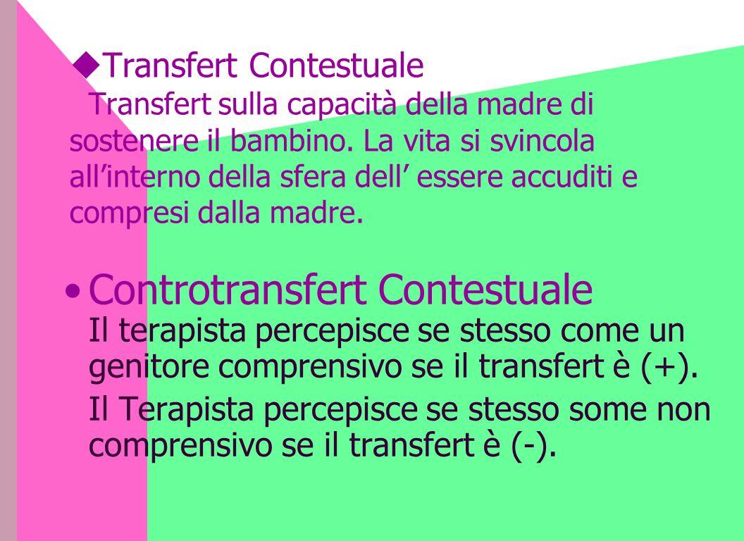 Transfert Contestuale Transfert sulla capacità della madre di sostenere il bambino.