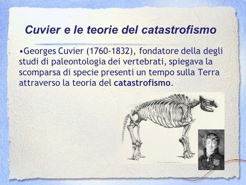 Georges Cuvier (1760-1832), fondatore della degli studi di paleontologia dei vertebrati, spiegava la scomparsa di specie presenti un tempo sulla Terra