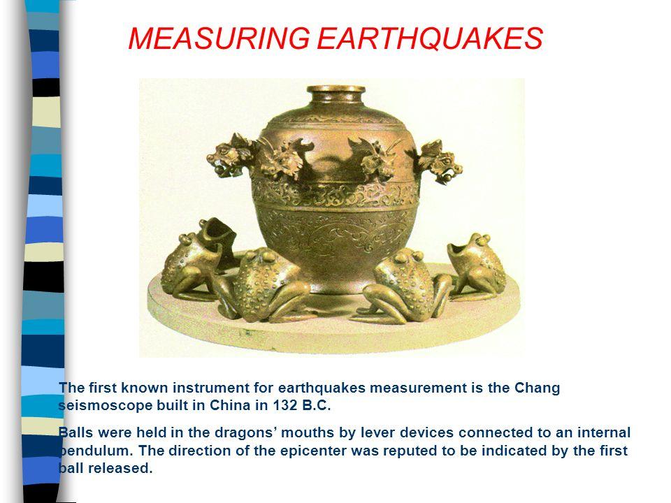 IPOCENTRO EPICENTRO In un terremoto possiamo distinguere: