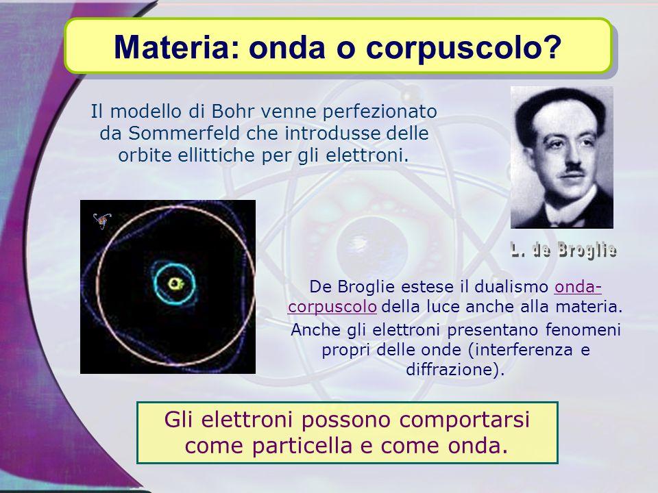 Il modello di Bohr, per quanto stimolante, ha due limitazioni: formalmente non è ortodosso; si parte dalla meccanica tradizionale (Newtoniana) e si ar