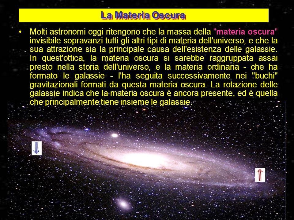 Molti astronomi oggi ritengono che la massa della