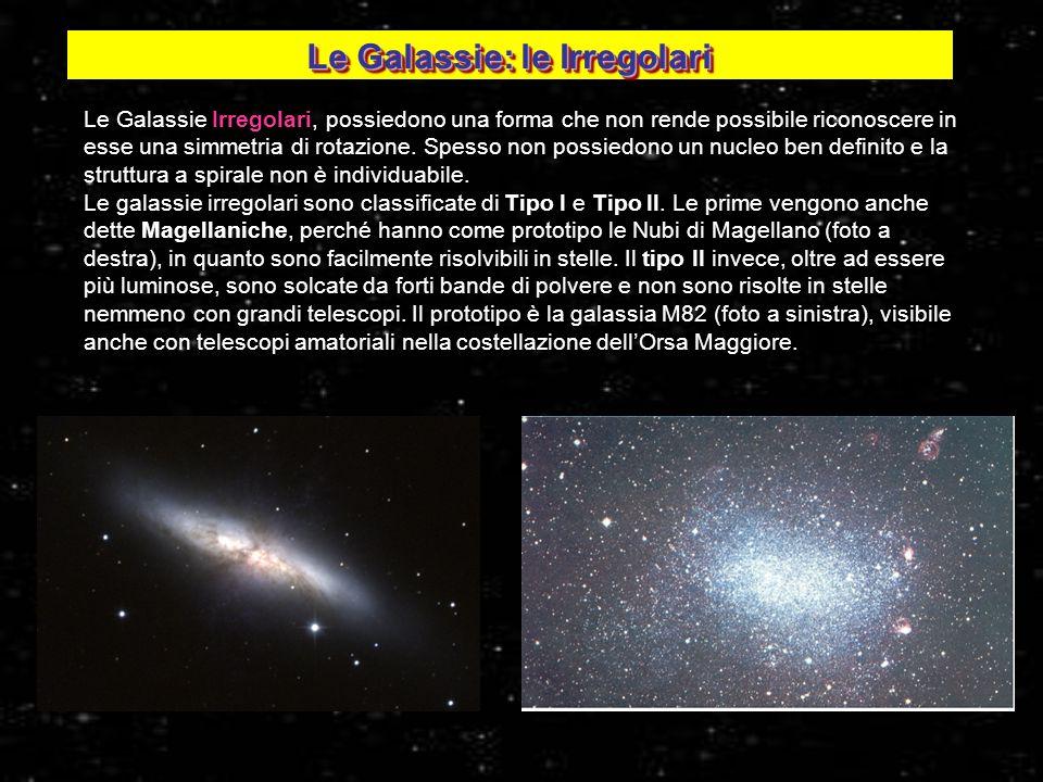 Le Galassie Irregolari, possiedono una forma che non rende possibile riconoscere in esse una simmetria di rotazione. Spesso non possiedono un nucleo b