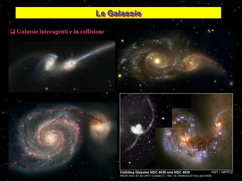 27 Galassie interagenti e in collisione Le Galassie