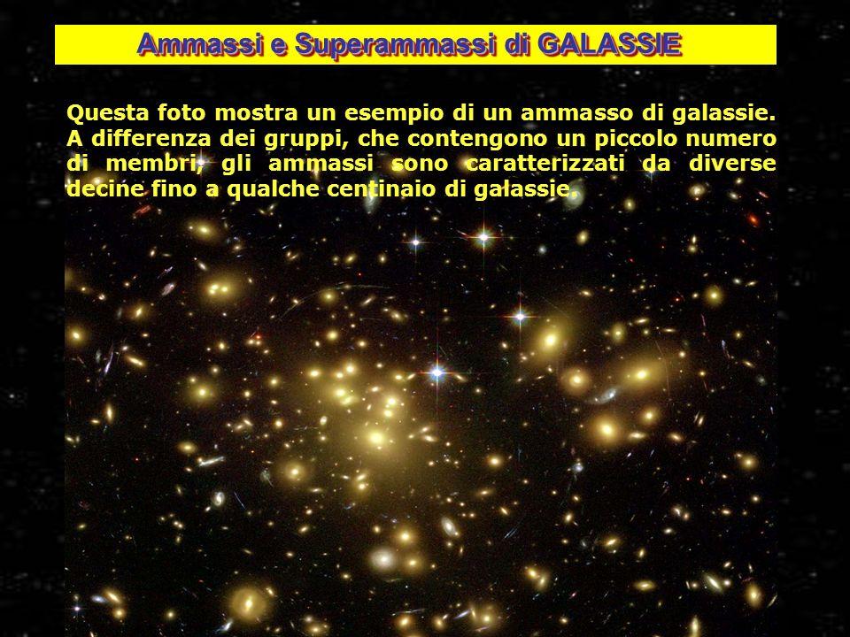 30 Ammassi e Superammassi di GALASSIE Questa foto mostra un esempio di un ammasso di galassie. A differenza dei gruppi, che contengono un piccolo nume