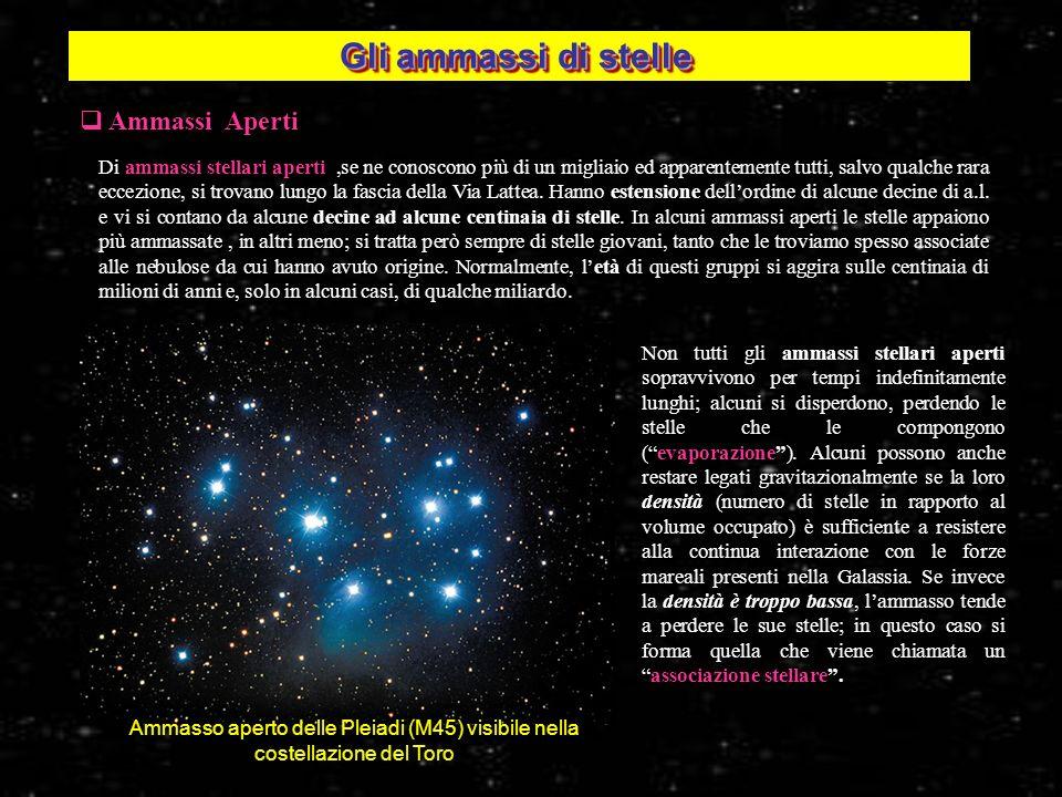 Ammassi Aperti Di ammassi stellari aperti,se ne conoscono più di un migliaio ed apparentemente tutti, salvo qualche rara eccezione, si trovano lungo l
