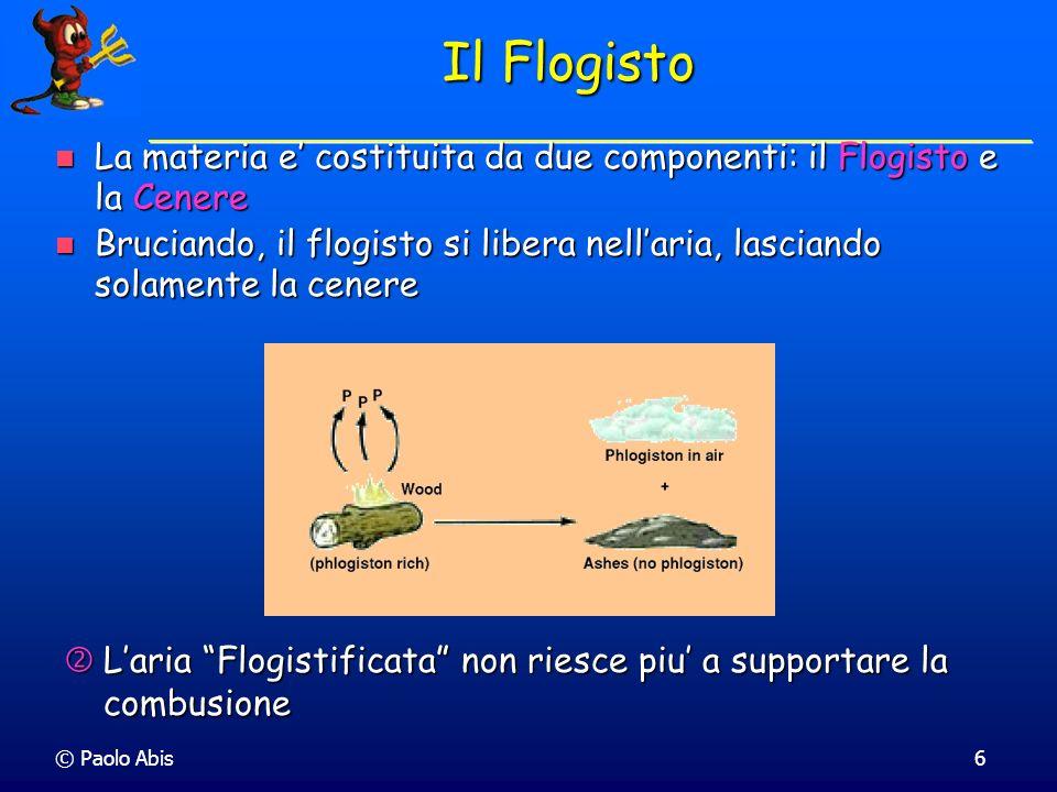 © Paolo Abis27 Per esempio il diossido di zolfo (SO 2 ) con una massa di 10.00 g contiene 5.00 g di zolfo.