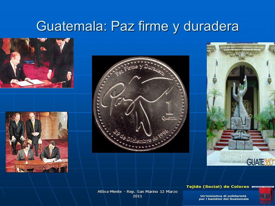 Attiva-Mente - Rep. San Marino 12 Marzo 2011 Guatemala: Paz firme y duradera
