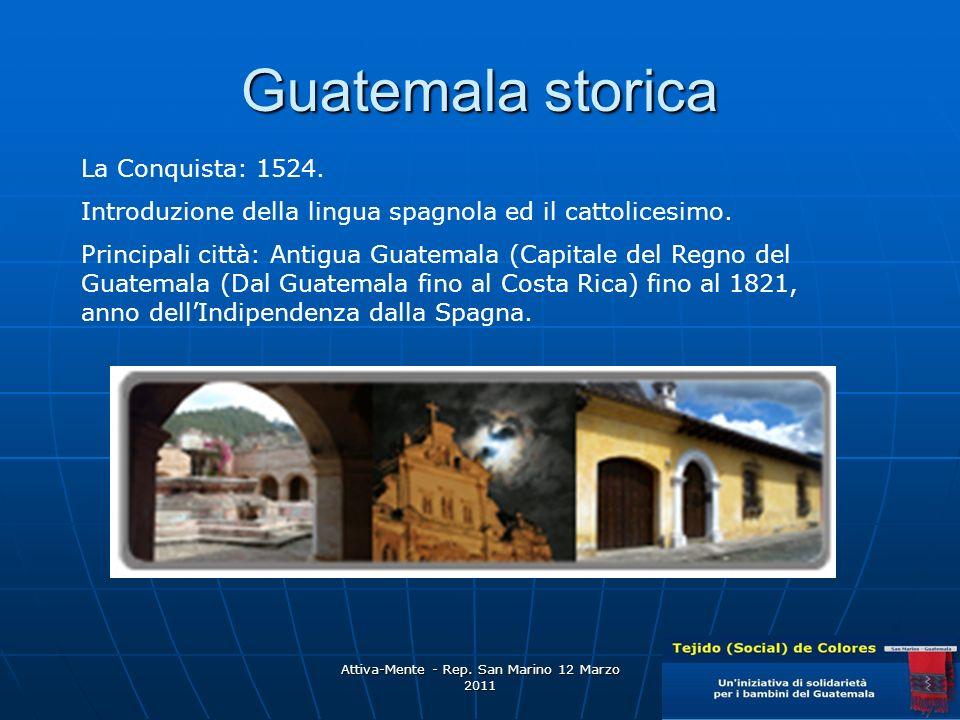 Attiva-Mente - Rep.San Marino 12 Marzo 2011 Guatemala storica La Conquista: 1524.