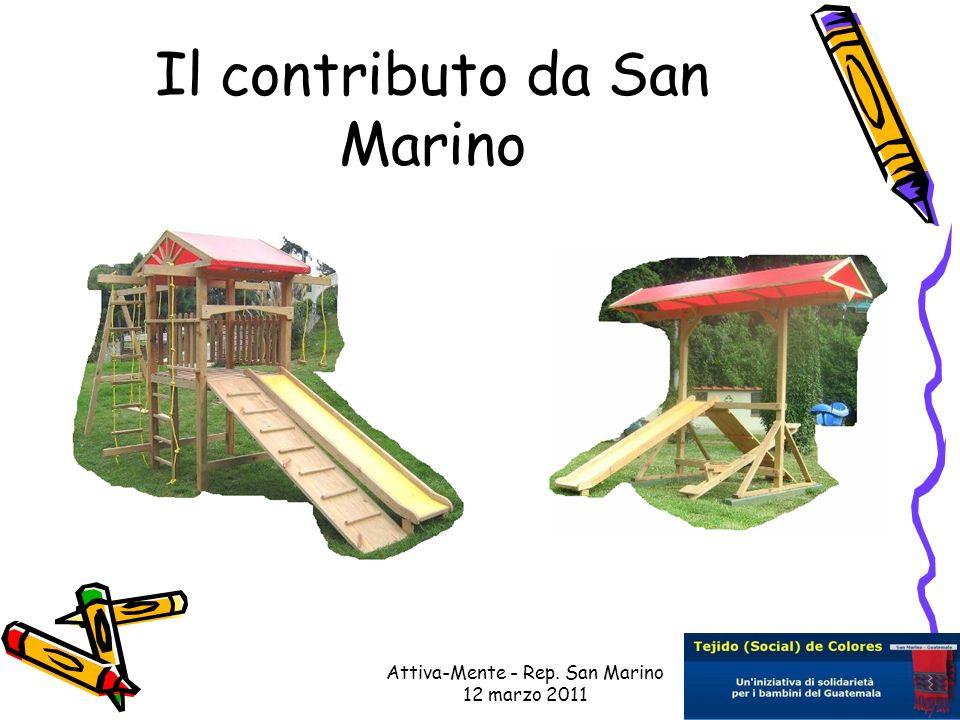 Attiva-Mente - Rep. San Marino 12 marzo 2011 Il contributo da San Marino