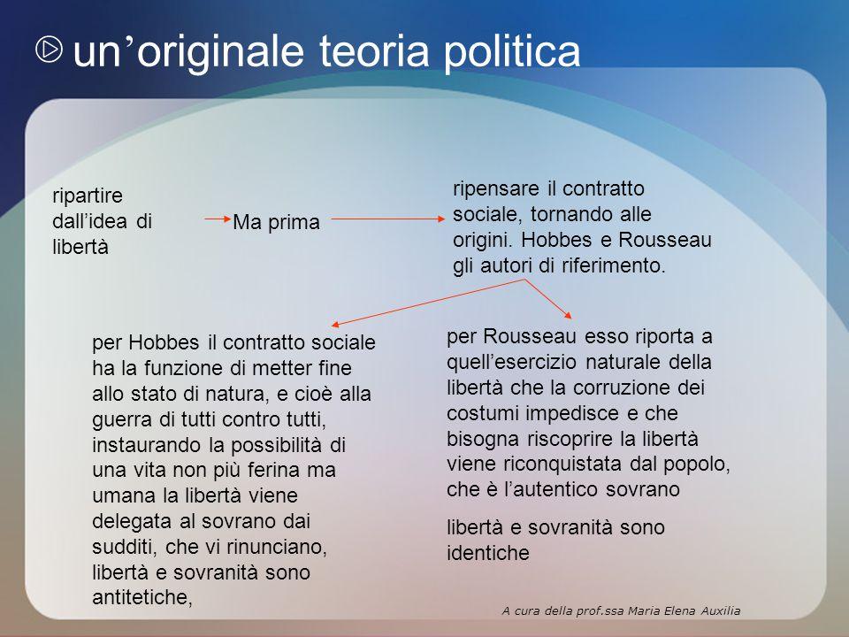 un originale teoria politica ripartire dallidea di libertà Ma prima ripensare il contratto sociale, tornando alle origini.