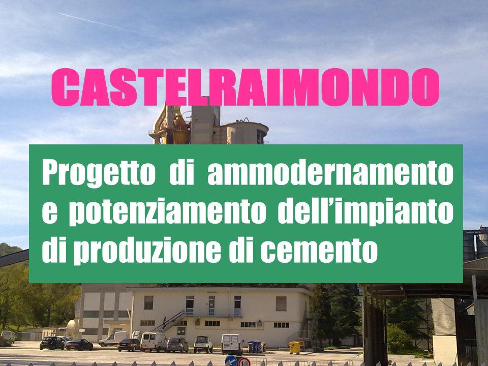 Progetto di ammodernamento e potenziamento dellimpianto di produzione di cemento