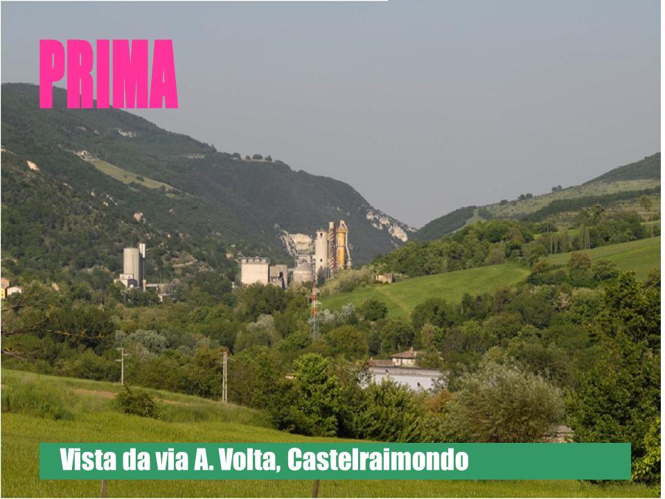 Vista da via A. Volta, Castelraimondo
