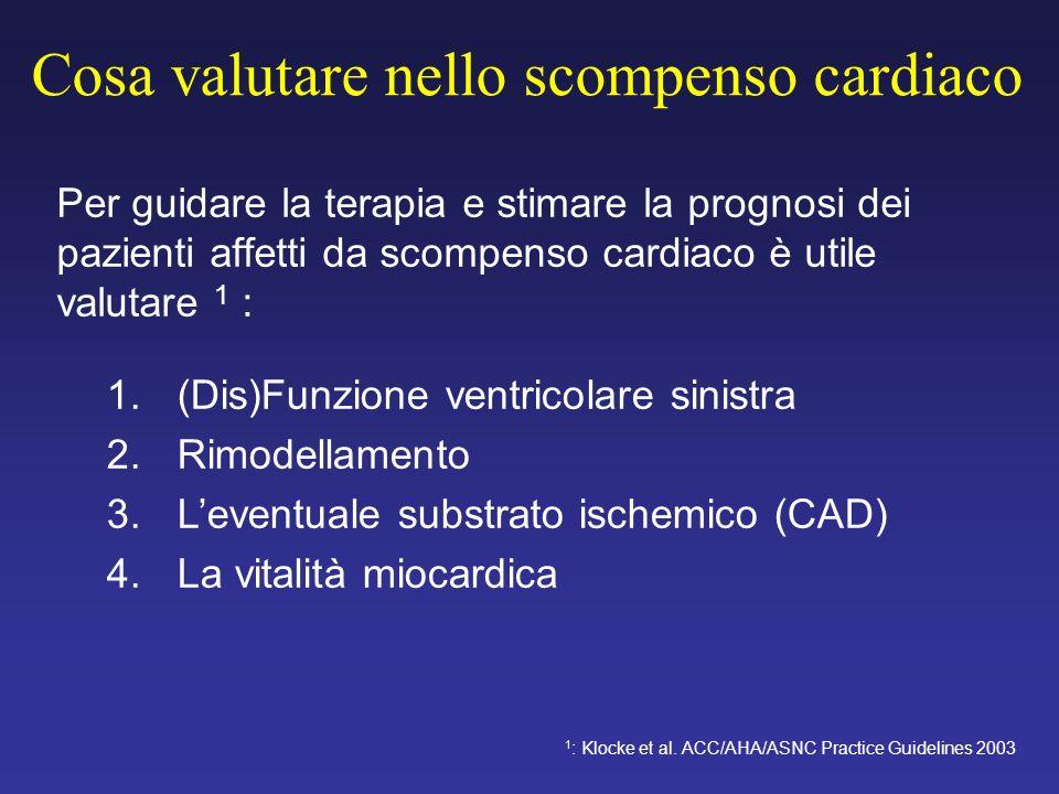 Cosa valutare nello scompenso cardiaco Per guidare la terapia e stimare la prognosi dei pazienti affetti da scompenso cardiaco è utile valutare 1 : 1