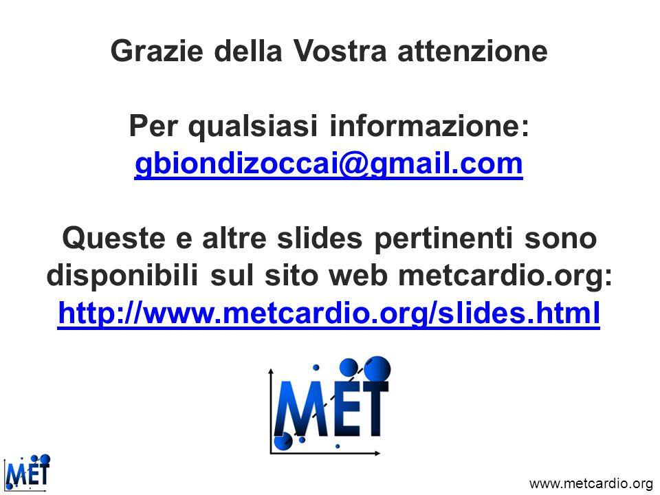 www.metcardio.org Grazie della Vostra attenzione Per qualsiasi informazione: gbiondizoccai@gmail.com Queste e altre slides pertinenti sono disponibili
