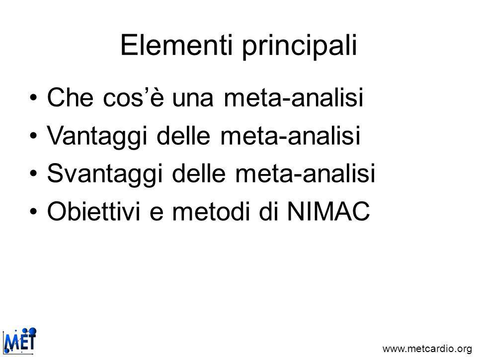 www.metcardio.org Aumento della potenza statistica e della validità esterna Agostoni et al, J Am Coll Cardiol 2003