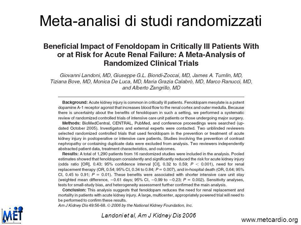 www.metcardio.org Meta-analisi di studi prognostici Biondi-Zoccai et al, Eur Heart J 2006