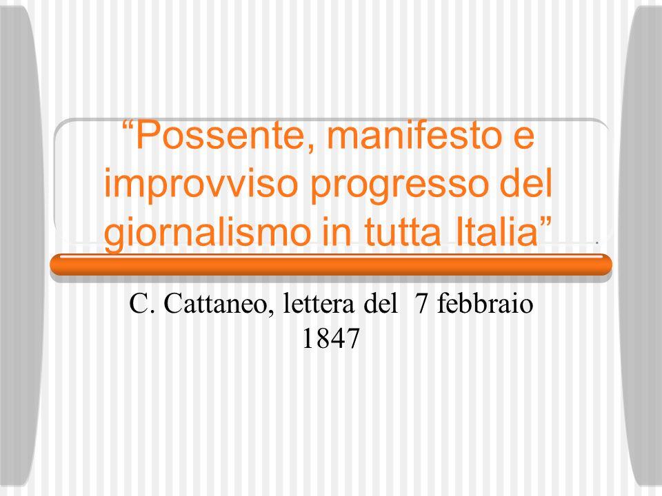 Possente, manifesto e improvviso progresso del giornalismo in tutta Italia C.