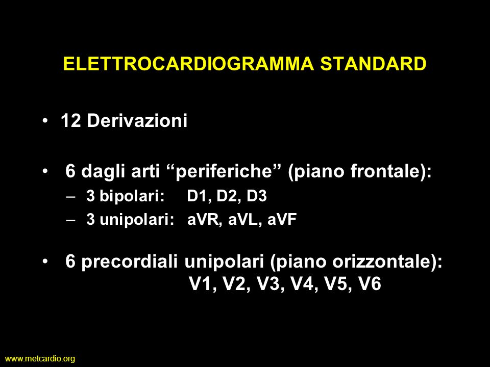 www.metcardio.org Operators recording ECGs should ensure that chest leads are placed in the proper position and electrodes make good skin contact to minimize artifacts.
