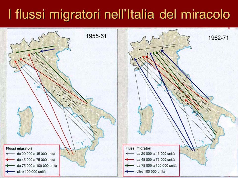 I flussi migratori nellItalia del miracolo
