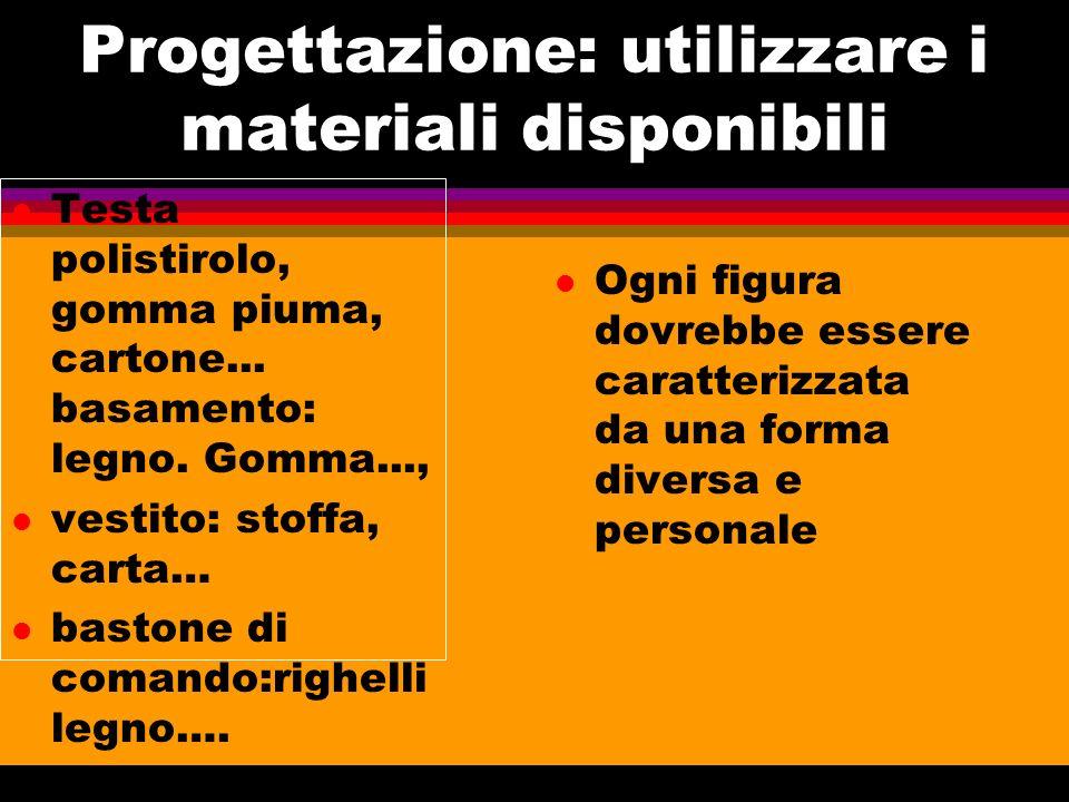 Progettazione: utilizzare i materiali disponibili lTlTesta polistirolo, gomma piuma, cartone...