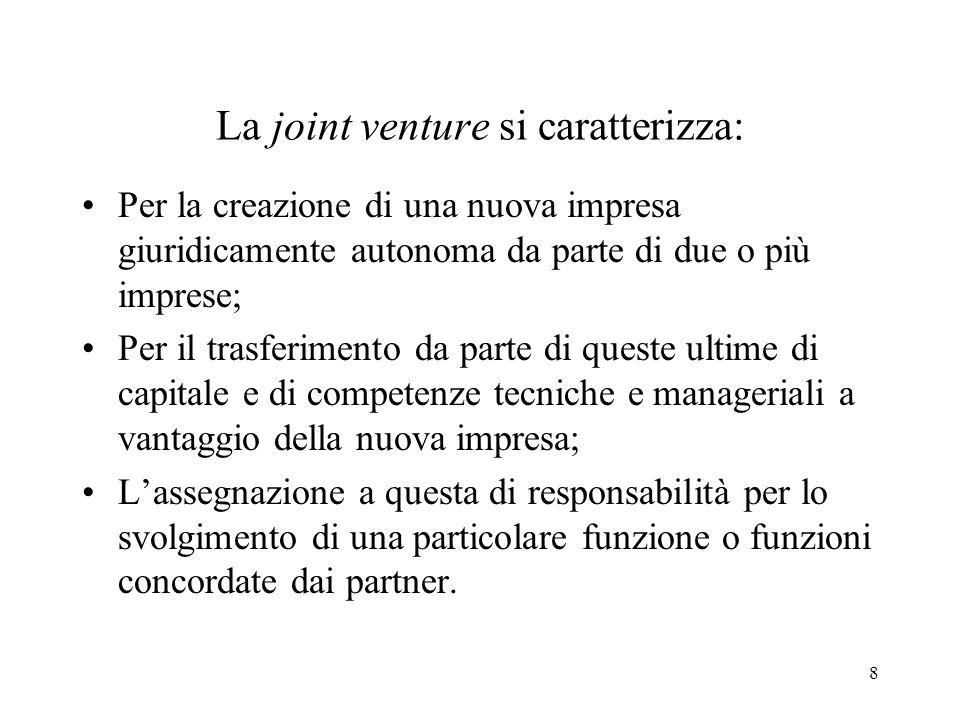 9 Joint venture Impresa congiunta