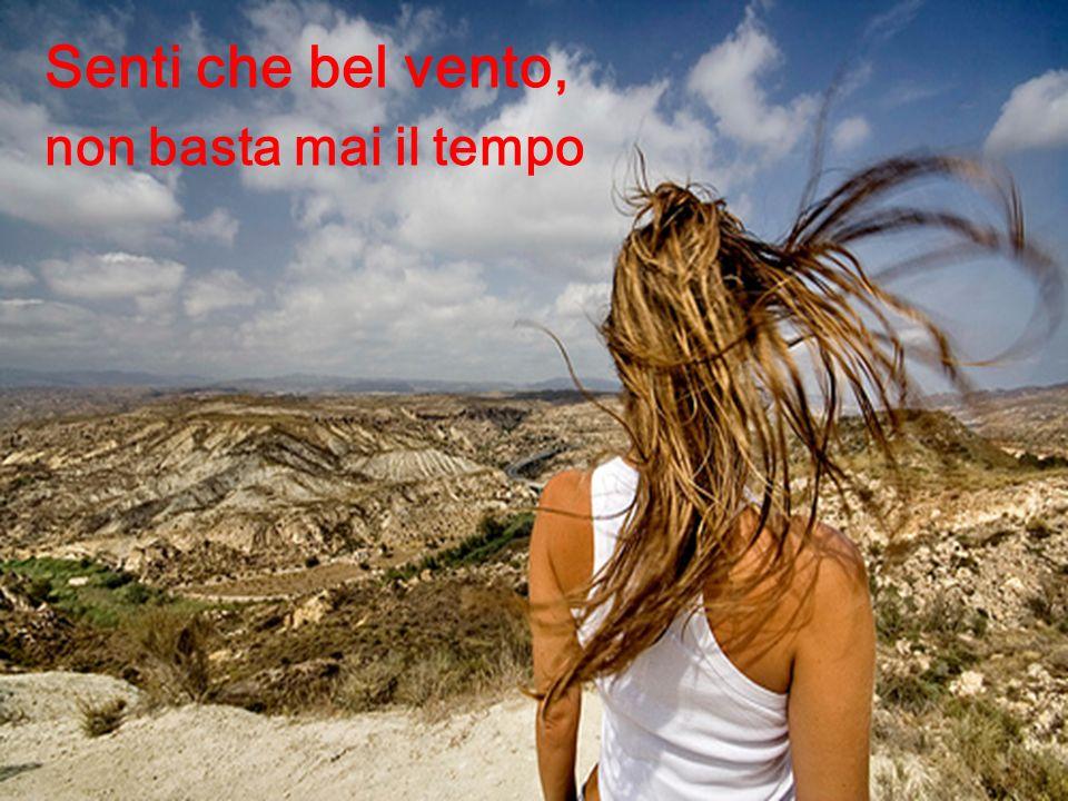 Senti che bel vento, non basta mai il tempo