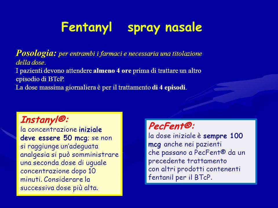 Posologia: per entrambi i farmaci e necessaria una titolazione della dose.