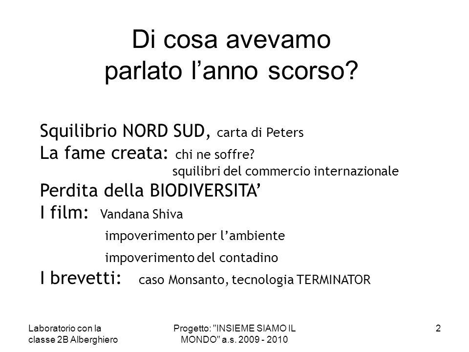 IMPRONTA ECOLOGICA Mediamente un italiano ha una impronta ecologica di 4,2 ettari procapite QUESTO VUOL DIRE CHE SE TUTTI VIVESSERO COME NOI SERVIREBBERO OLTRE 2 PIANETI TERRA PER PRODURRE IL CIBO NECESSARIO E ASSORBIRE I RIFIUTI GENERATI 23Progetto: INSIEME SIAMO IL MONDO a.s.