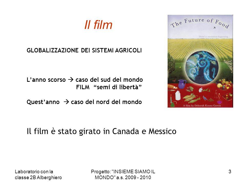 Il film GLOBALIZZAZIONE DEI SISTEMI AGRICOLI Lanno scorso caso del sud del mondo FILM semi di libertà Questanno caso del nord del mondo Il film è stat