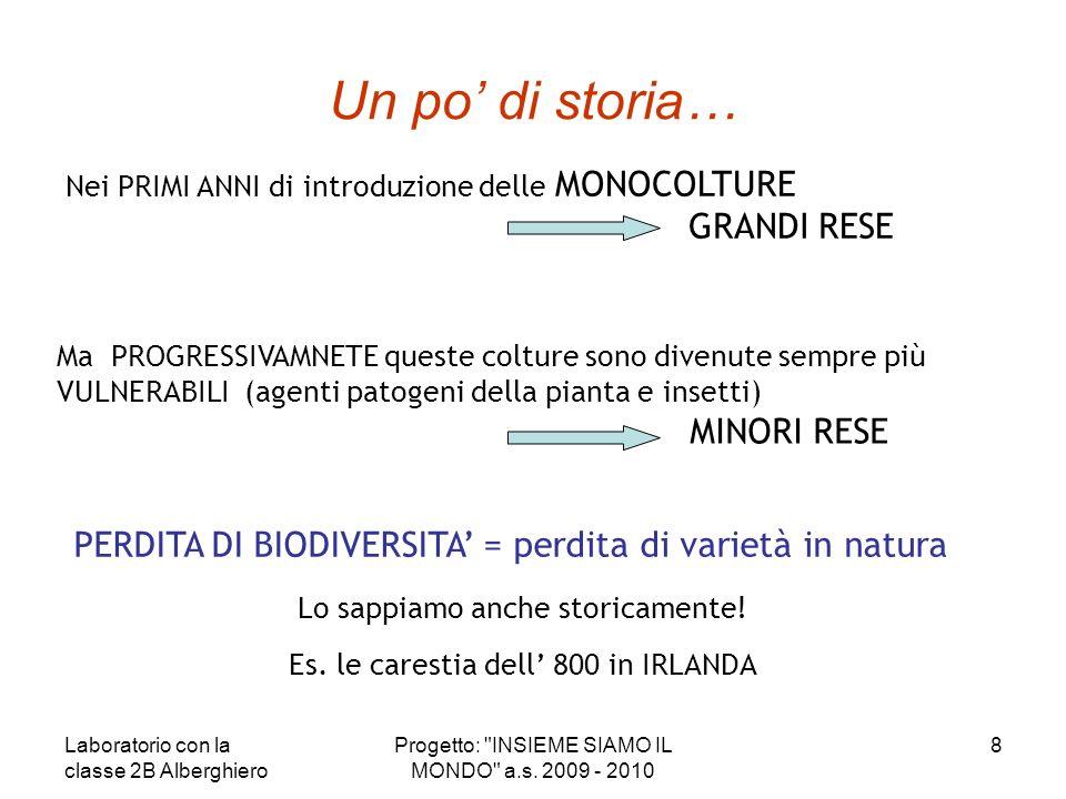 PERDITA DI BIODIVERSITA = perdita di varietà in natura Il 97% delle varietà degli ortaggi coltivati a inizio XX sec.