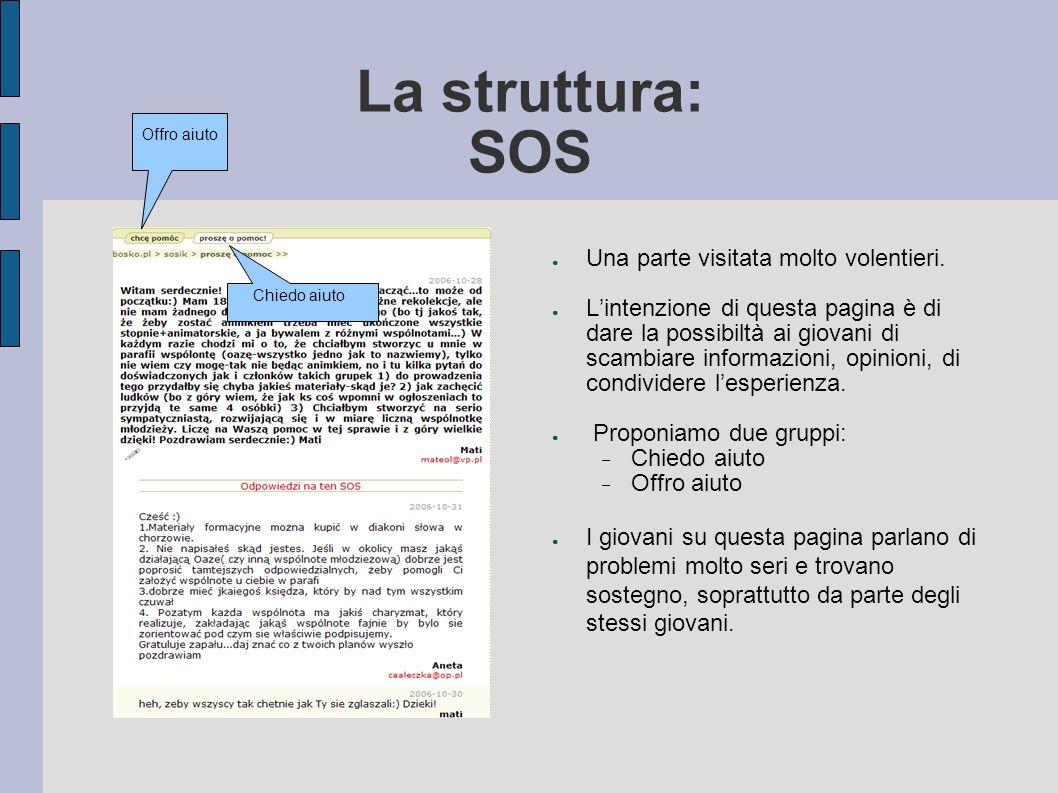 La struttura: SOS Una parte visitata molto volentieri.