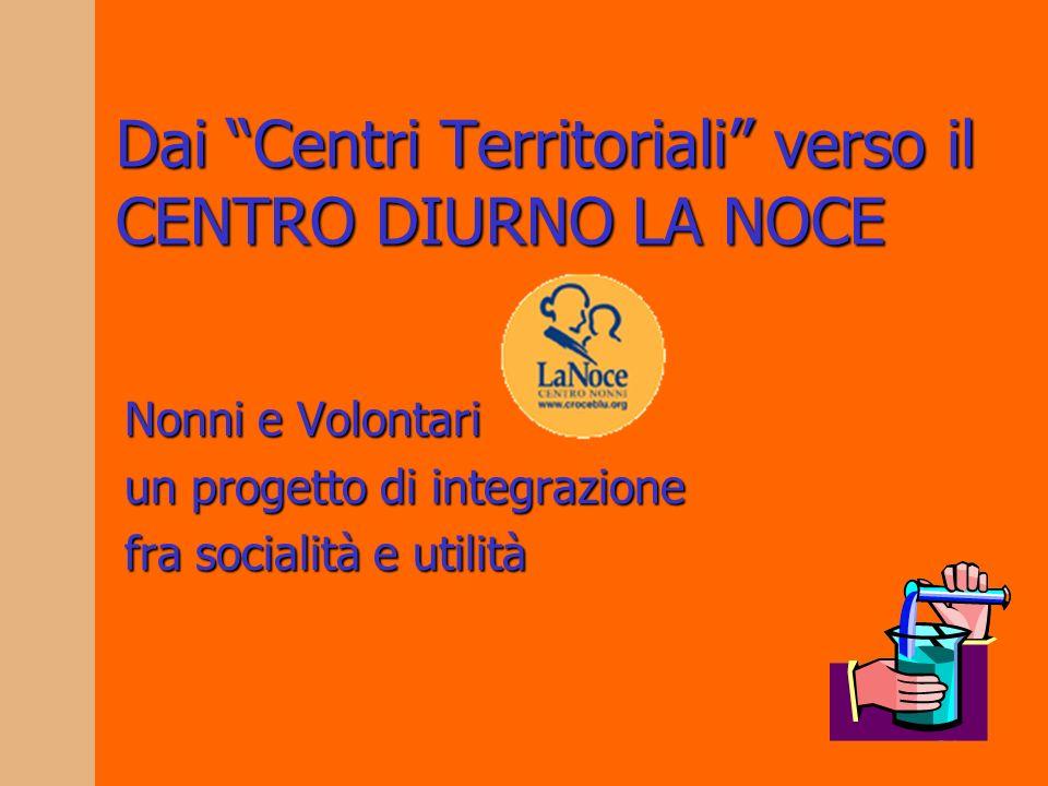 34 Dai Centri Territoriali verso il CENTRO DIURNO LA NOCE Nonni e Volontari un progetto di integrazione fra socialità e utilità