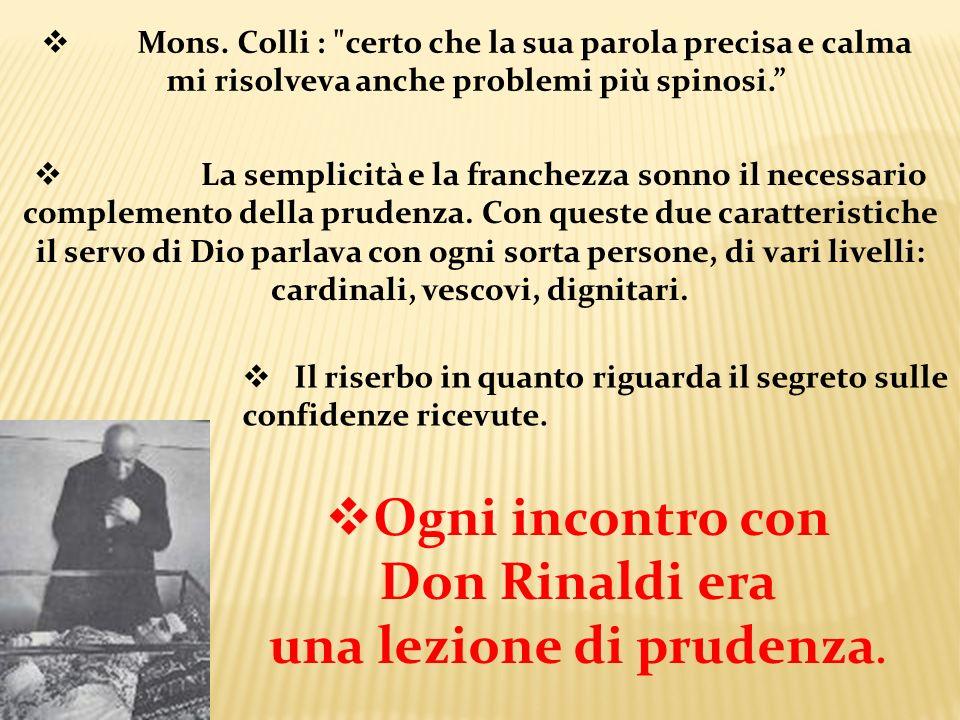 Mons. Colli :
