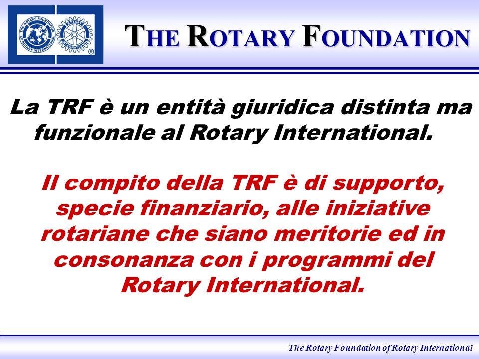 The Rotary Foundation of Rotary International I programmi della TRF.