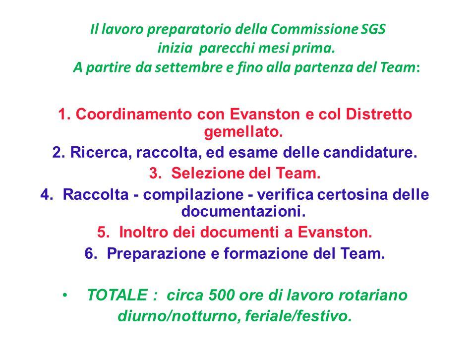 Il lavoro preparatorio della Commissione SGS inizia parecchi mesi prima.