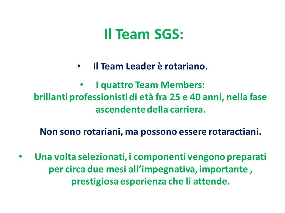 Il Team SGS: Il Team Leader è rotariano.