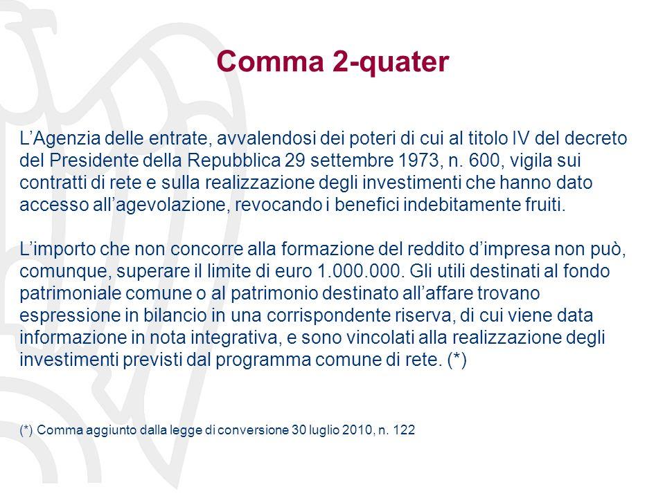 Comma 2-quater LAgenzia delle entrate, avvalendosi dei poteri di cui al titolo IV del decreto del Presidente della Repubblica 29 settembre 1973, n.