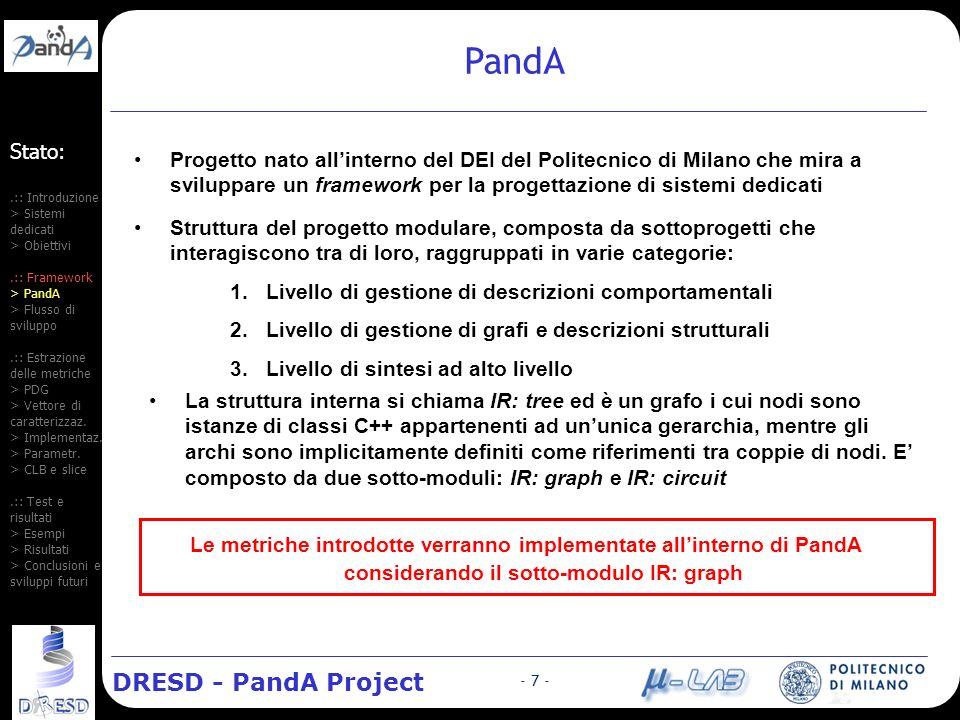 DRESD - PandA Project - 18 - Risultati (1): unità funzionali Errore medio % Stima tempo Stima FF Stima CLB Errore medio stima FF sempre nullo tranne Molt.