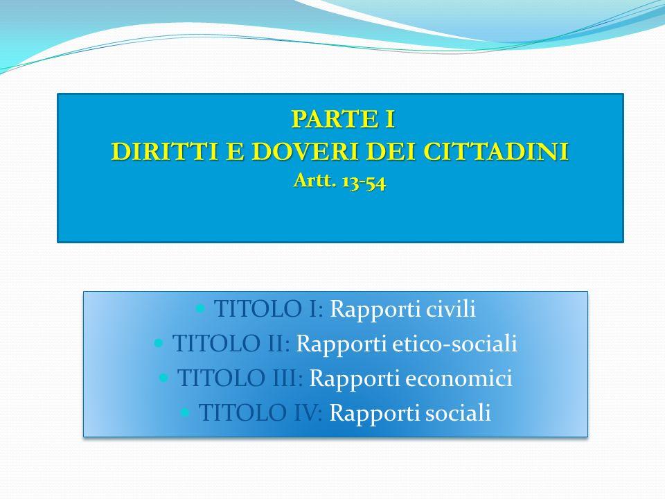 PRINCIPI FONDAMENTALI Artt. 1-12 Principio internazionalista Art. 10, l'ordinamento italiano si conforma alle norme del diritto internazionale general