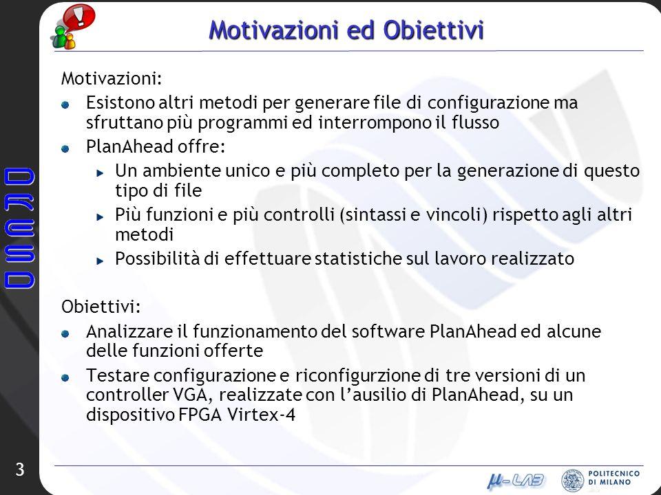 3 Motivazioni ed Obiettivi Motivazioni: Esistono altri metodi per generare file di configurazione ma sfruttano più programmi ed interrompono il flusso