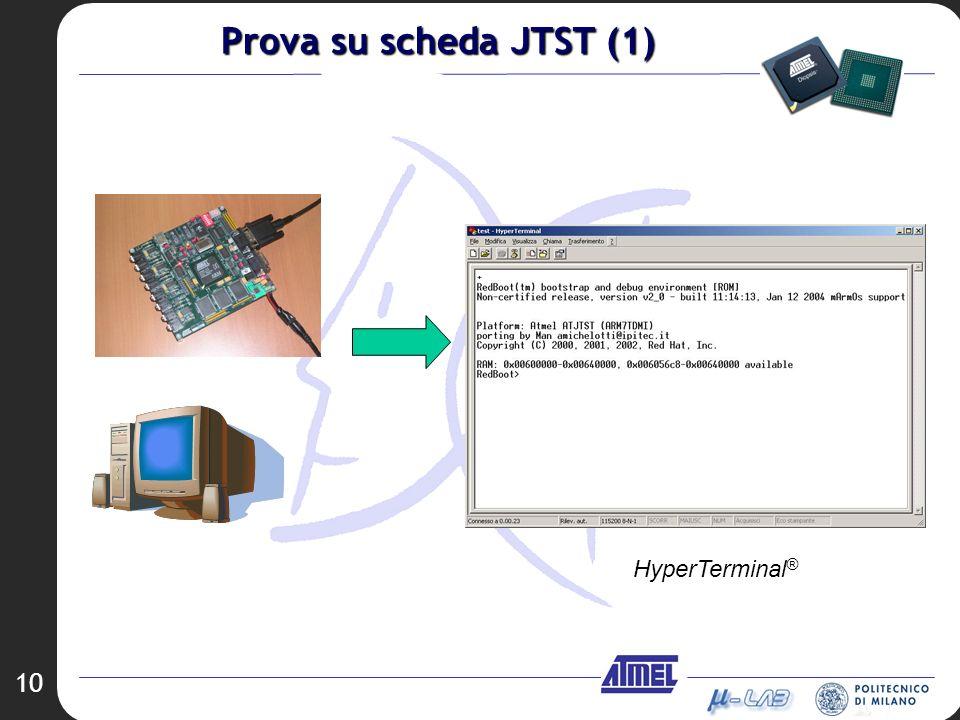 10 HyperTerminal ® Prova su scheda JTST (1)