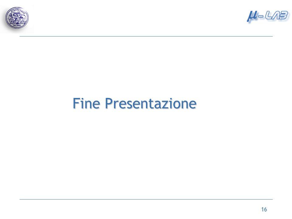 16 Fine Presentazione
