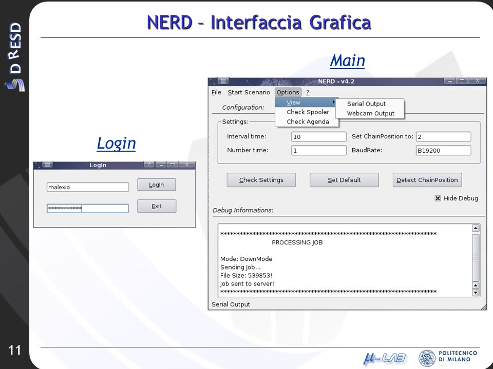 11 NERD – Interfaccia Grafica Login Main
