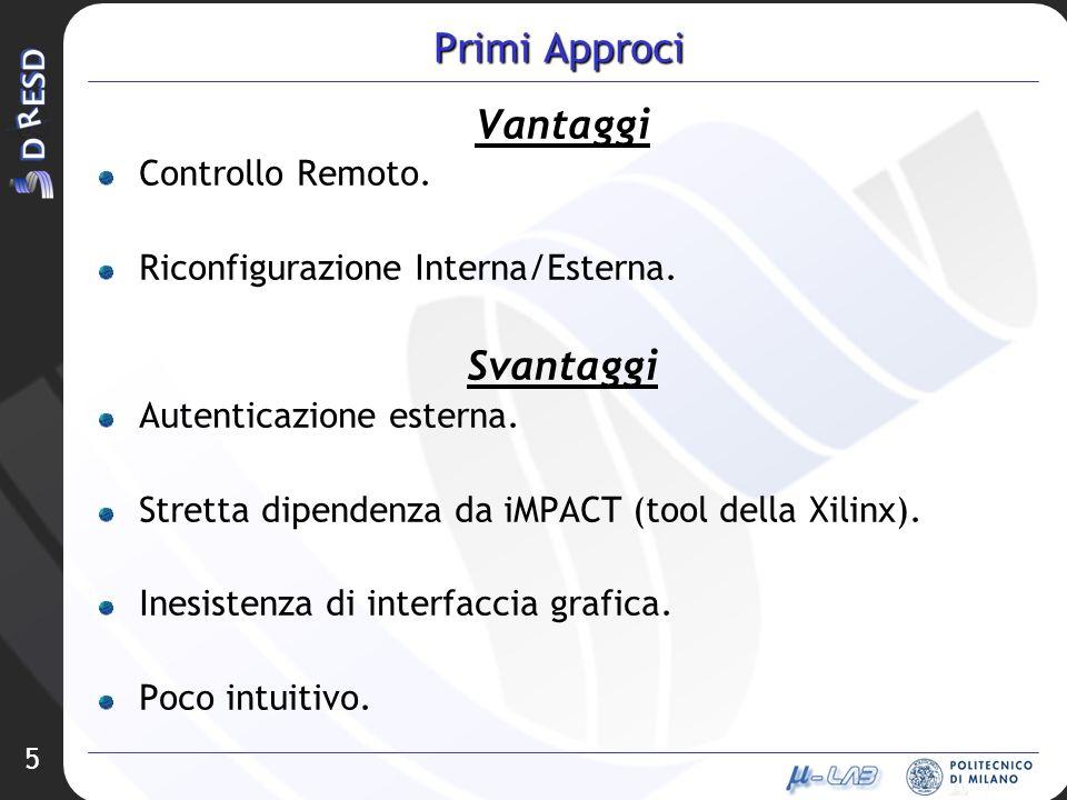 5 Primi Approci Vantaggi Controllo Remoto. Riconfigurazione Interna/Esterna.